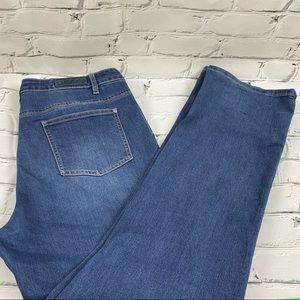Buffalo mid rise straight leg stretch jeans